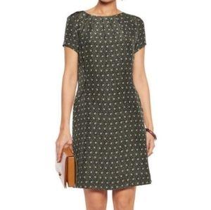 Tory Burch Harriet Green Sheath Silk Dress Size 0
